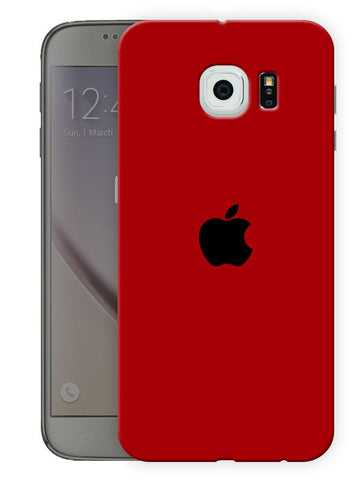 Apple Love In Red Printed Designer Mobile Back Cover For Samsing Galaxy S6