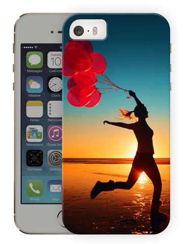 Free Woman With Balloons On A Beach Printed Designer Mobile Back Cover For Apple Iphone Se