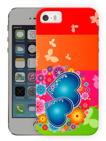 Multicolor Hearts Printed Designer Mobile Back Cover For Apple Iphone Se