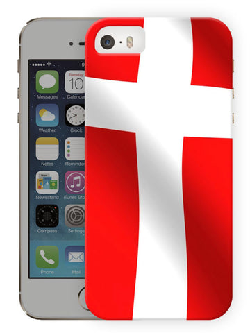 Denmark Flag Printed Designer Mobile Back Cover For Apple Iphone Se
