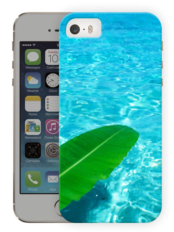 Water And Leaf Printed Designer Mobile Back Cover For Apple Iphone Se