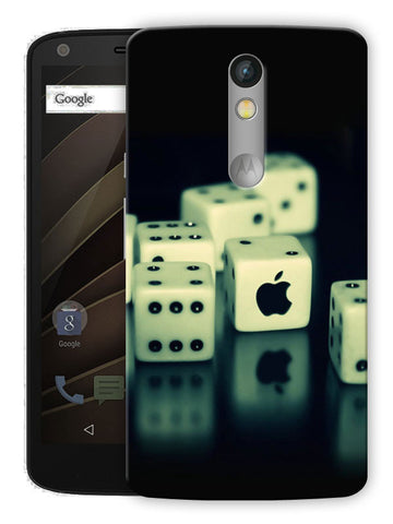 Dices And Apple Printed Designer Mobile Back Cover For Motorola Moto X Force