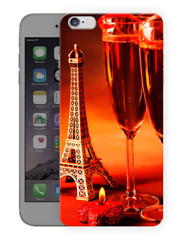 Wine And Eiffel Tower Printed Designer Mobile Back Cover For Apple Iphone 6S Plus
