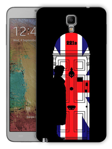 221B Sherlock Door Printed Designer Mobile Back Cover For Samsung Galaxy Note 3 Neo