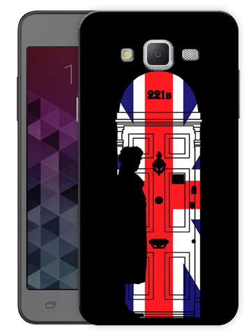 221B Sherlock Door Printed Designer Mobile Back Cover For Samsung Galaxy J5