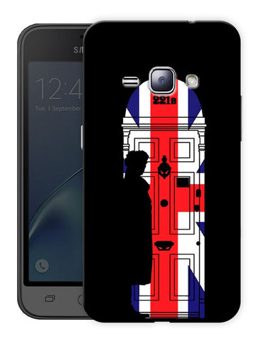 221B Sherlock Door Printed Designer Mobile Back Cover For Samsung Galaxy j1 2016 Edition