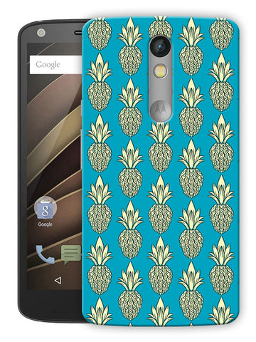 Pineapple Fruit Love Printed Designer Mobile Back Cover For Motorola Moto X Force
