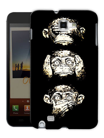16 Monkeys Printed Designer Mobile Back Cover For Samsung Galaxy Note 1
