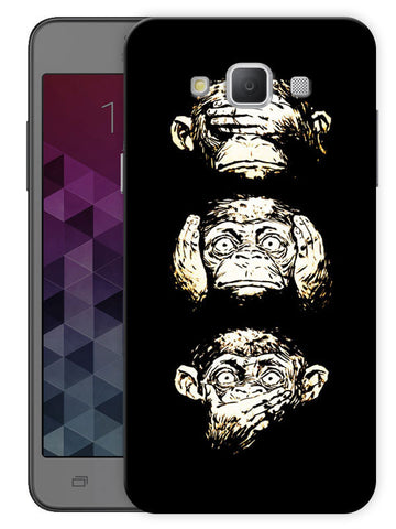 15 Monkeys Printed Designer Mobile Back Cover For Samsung Galaxy Grand 3