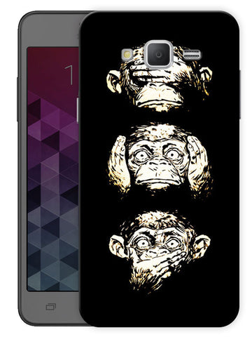 17 Monkeys Printed Designer Mobile Back Cover For Samsung Galaxy Mega 5.8