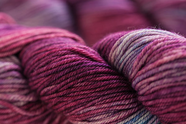 a bundle of pink & gray varigated yarn