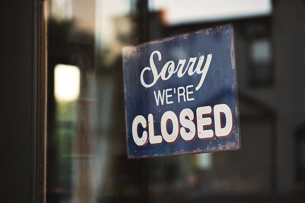 Closed Sign in Shop
