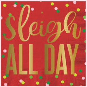Sleigh All Day Napkins