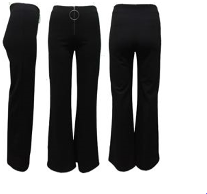 zipper front wide leg pants
