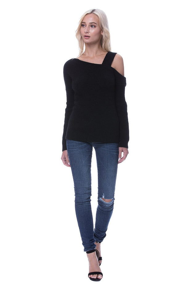 Asymmetrical One Shoulder Sweater