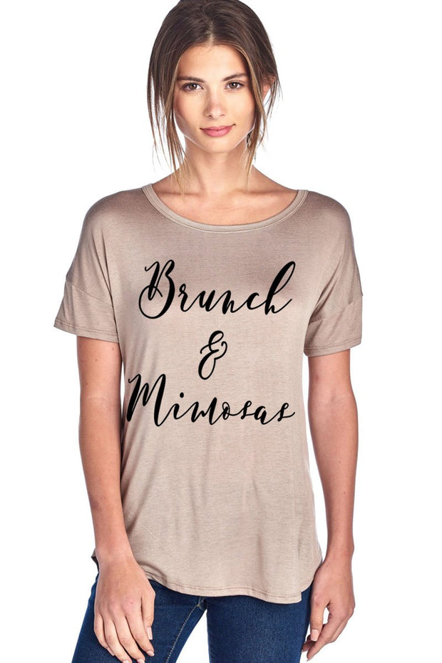 """Brunch & Mimosas"" Graphic Tee"