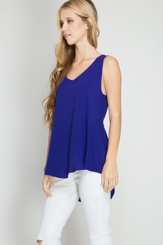 Blue Ocean Cross Top