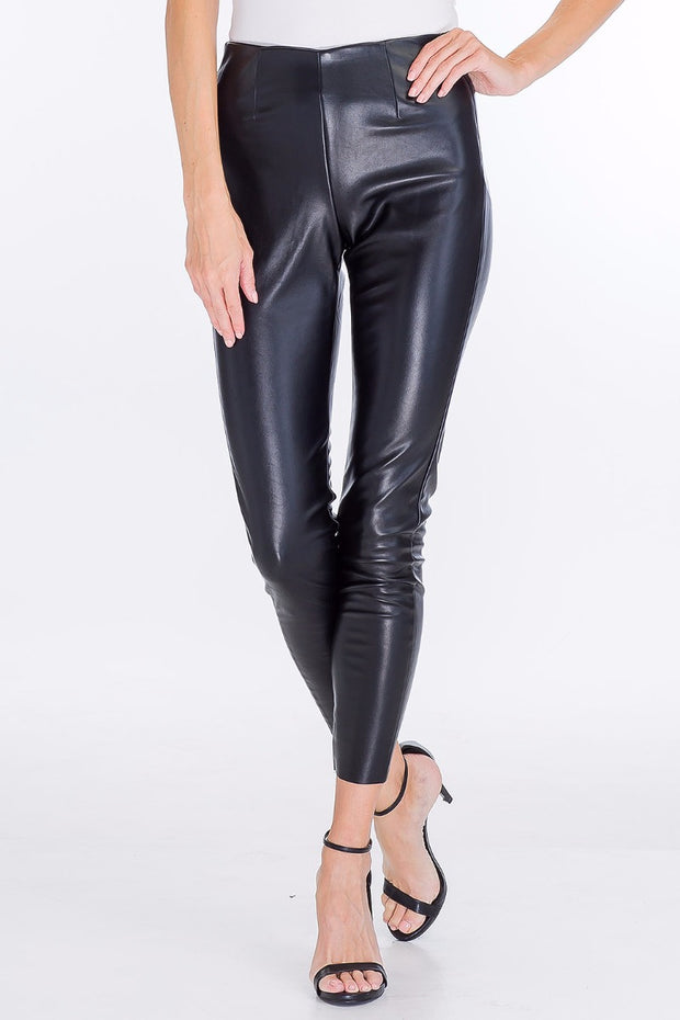 Jet Faux Leather Leggings
