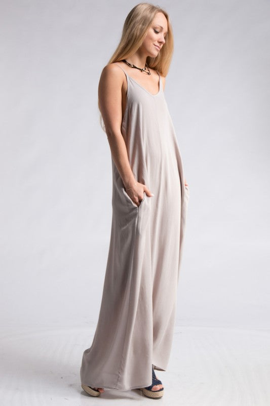 Washed Gauze Fabric Boho Maxi Dress