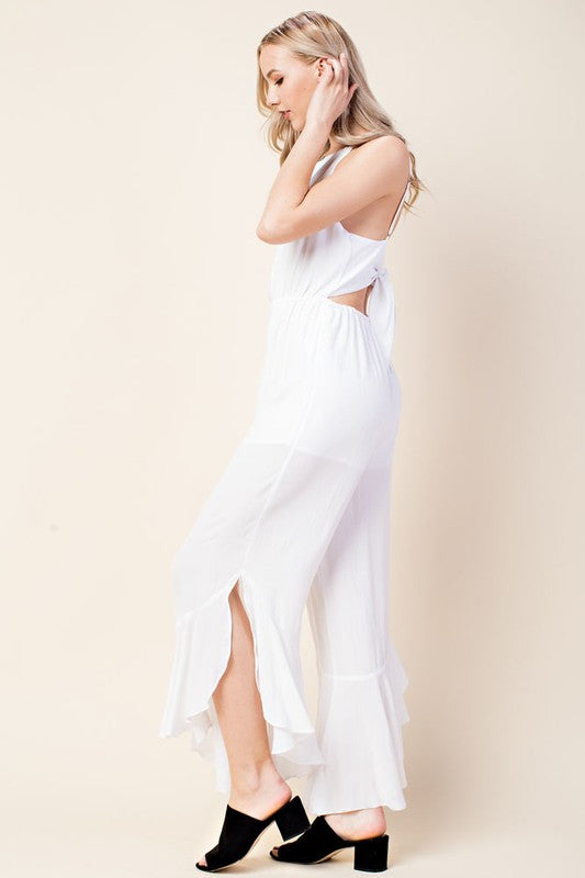 Halter Jumpsuit with Back Tie