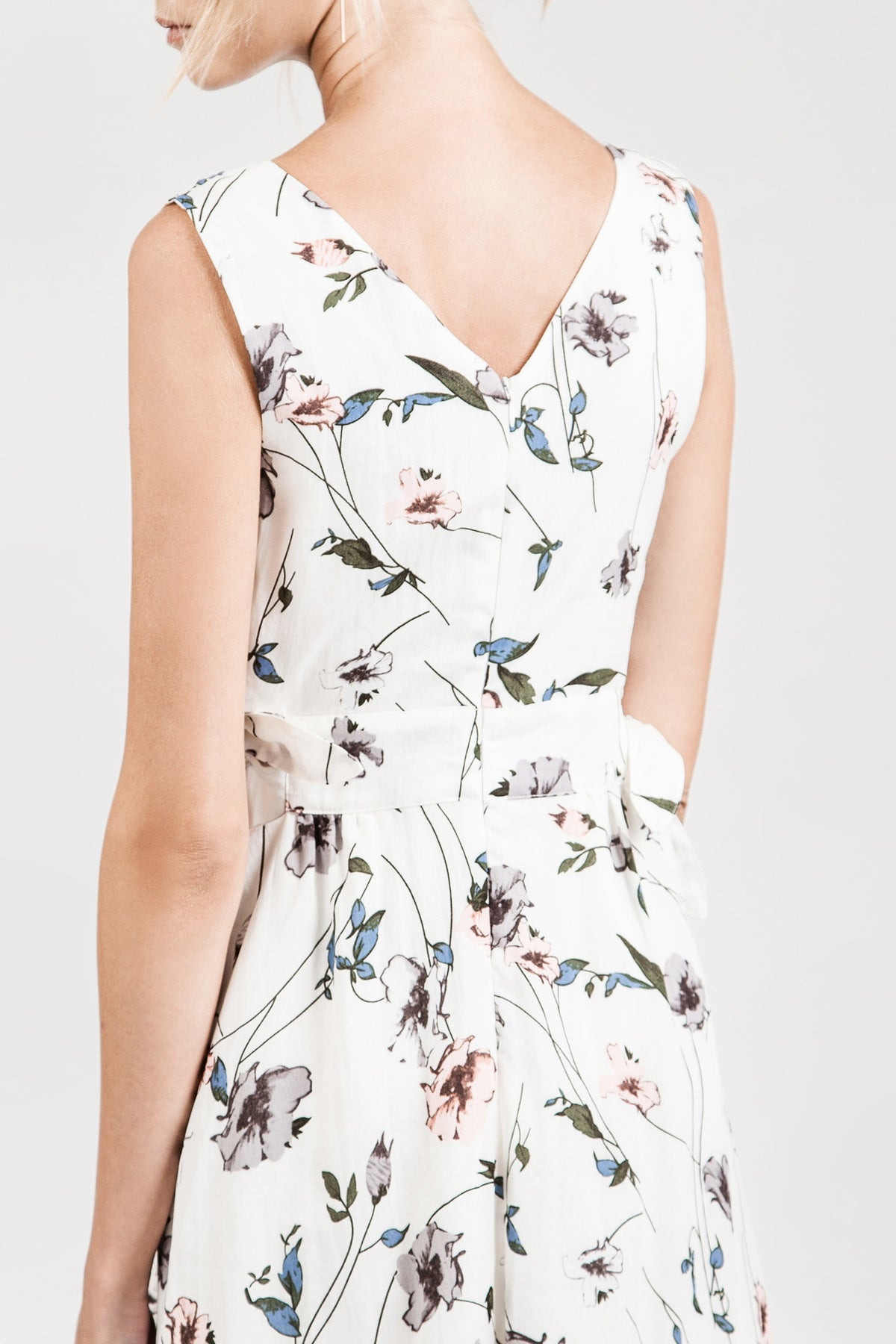 Flower Print Side Knot Dress
