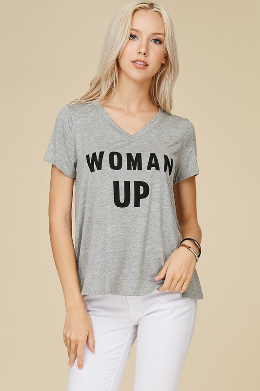 Woman up gray