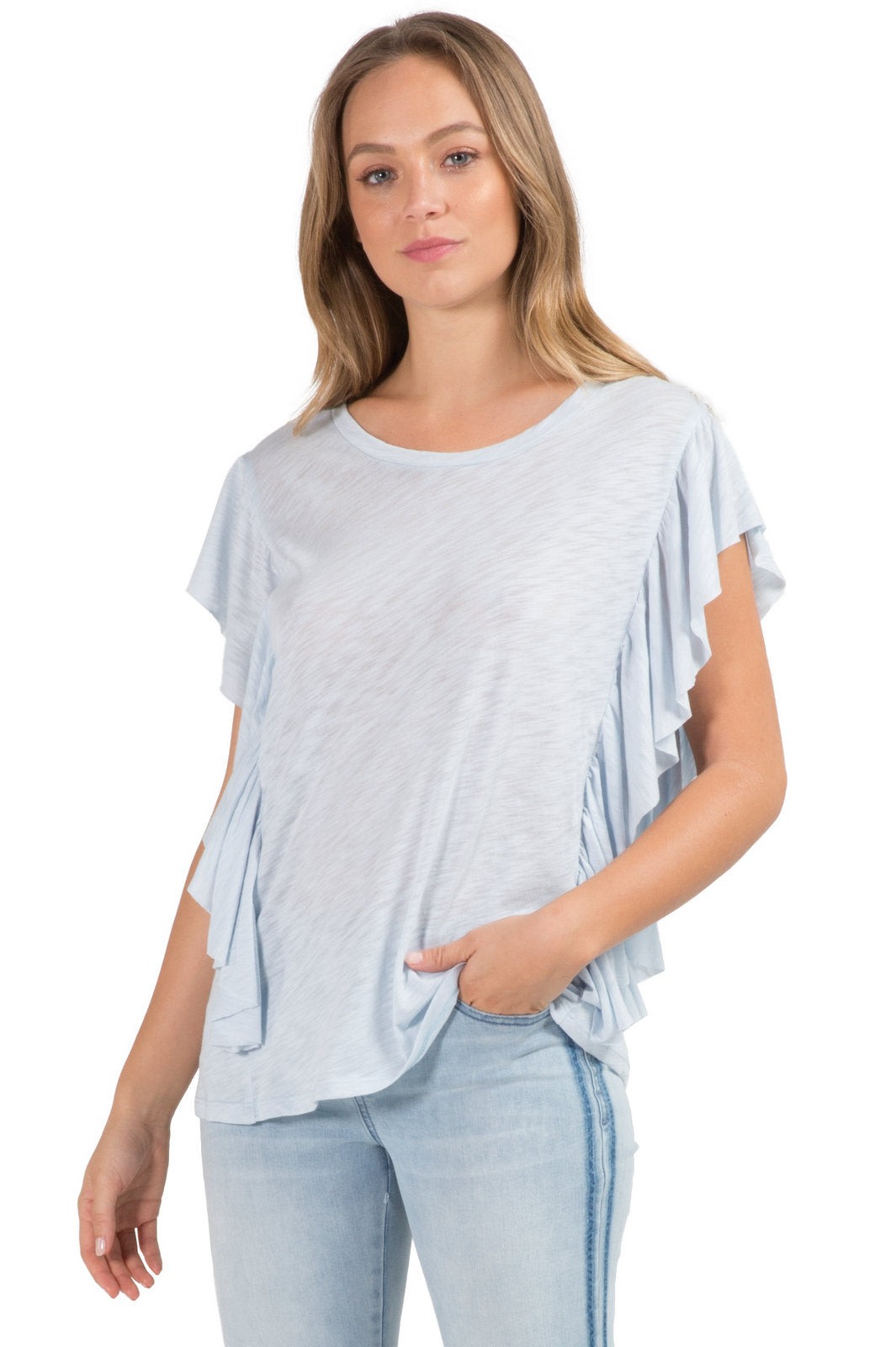 Top with Ruffled Layered Sides