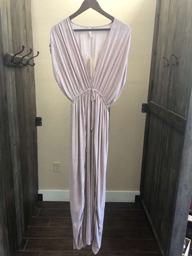 Plunging Neckline Maxi Dress