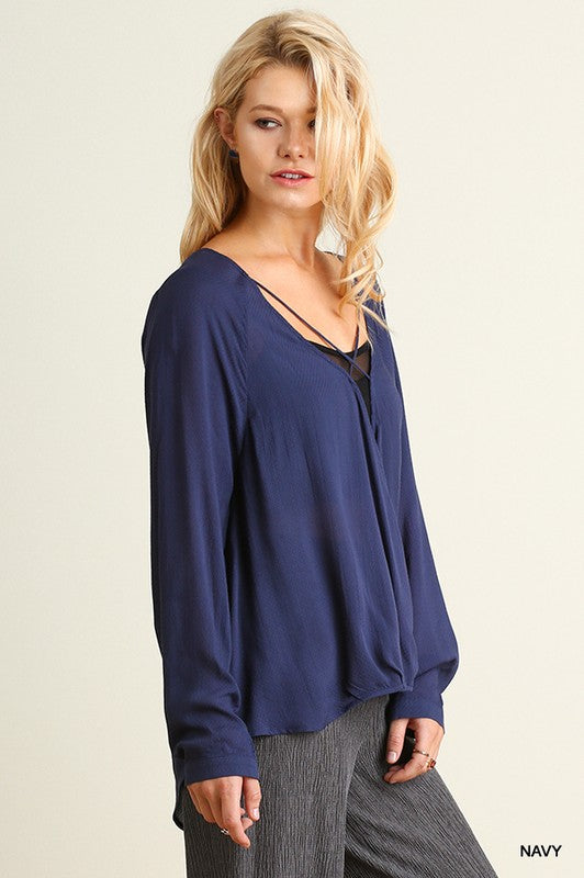 Blue Sky Surplice Blouse