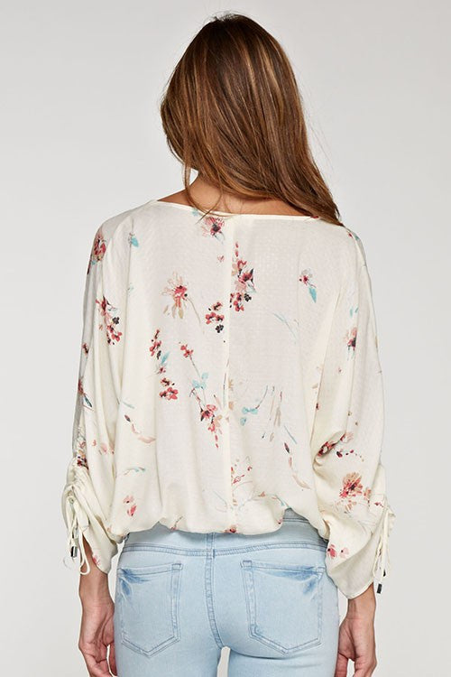 Cindy's Printed Layered Sleeve Top