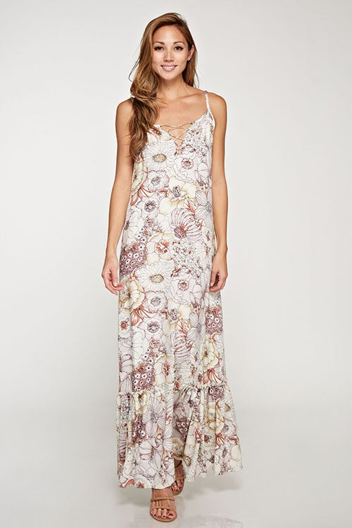 Jemma Floral Printed Maxi Dress