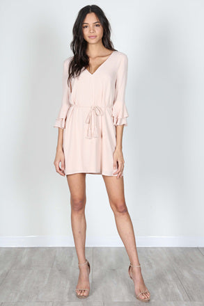Blush Colored Tie Dress