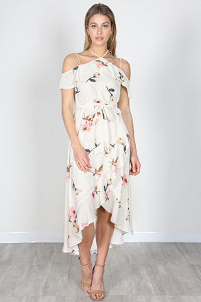 Floral Print High Low Dress