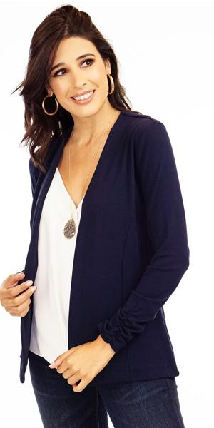 Soft Navy Ponti Jacket