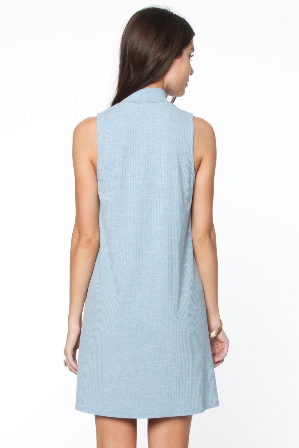 Shelia Blue Choker Dress