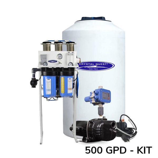 Whole House Reverse Osmosis 500 GPD  W/ 165 Gal Storage Tank Kit - PureWaterGuys.com