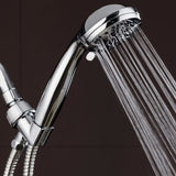 "AquaDance High Pressure 6-Setting 3.5"" Chrome Face Handheld Shower with Hose for the Ultimate Shower Experience! Officially Independently Tested to Meet Strict US Quality & Performance Standards! - PureWaterGuys.com"