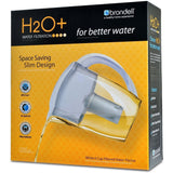 Brondell 6 Cup Water Filtration Pitcher-H10-W White - PureWaterGuys.com