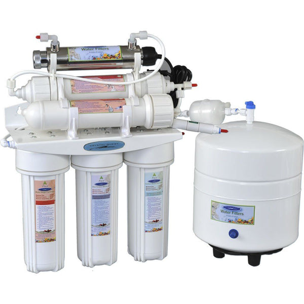 Crystal Quest 14 Stage Reverse Osmosis Under Sink Water Filter-4000C - PureWaterGuys.com