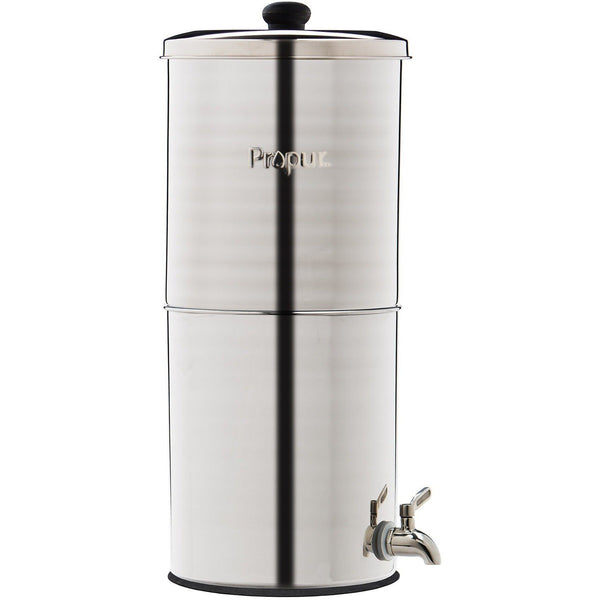 "Propur King Original Gravity Feed Water Stainless Steel 2-ProOne 9"" G2.0 filters - PureWaterGuys.com"