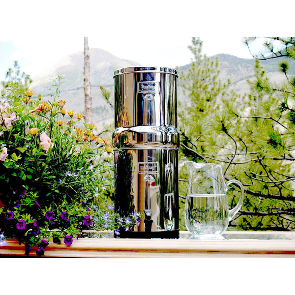 Royal Berkey RB4X2-BB Countertop Water Filter System With 2 Black Purification Elements - PureWaterGuys.com