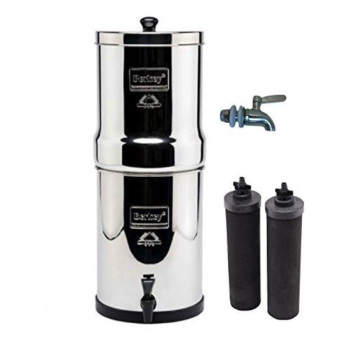 Travel Berkey BT2X2BB Countertop Water Filter System With 2 Black Purification Elements - PureWaterGuys.com