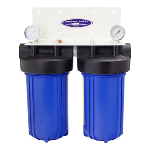 "Crystal Quest Double Big Heavy Duty 10"" x 5"" Whole House Water Filter System for high flow applications - PureWaterGuys.com"