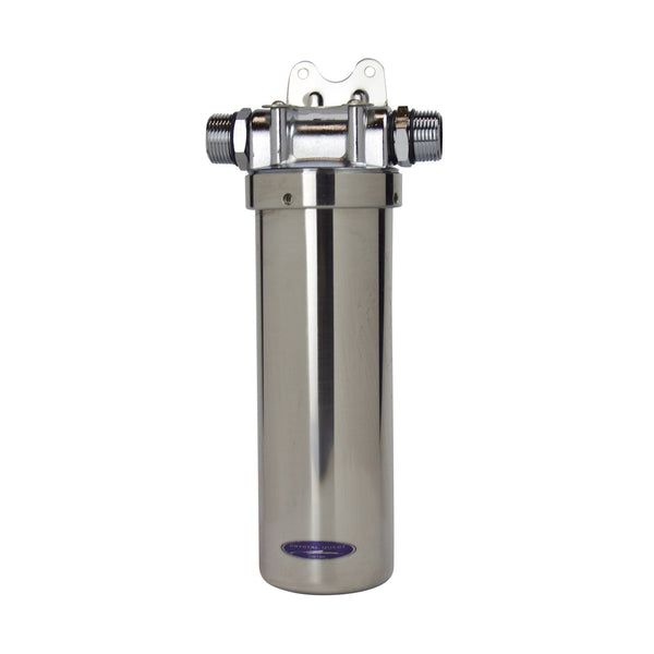 "Crystal Quest Eagle® 10"" Stainless Steel Whole House Filter System - PureWaterGuys.com"