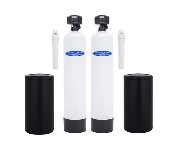 Crystal Quest Water Softener and Tannin Whole House Water Filter System 48,000 Grain Capacity/1.5 Cu. Ft. - PureWaterGuys.com