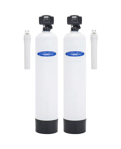 Crystal Quest Iron, Manganese, and Hydrogen Sulfide and Multistage Stainless Steel Whole House Water Filter 2.0 Cu .Ft./1,000,000 Gallon Capacity - PureWaterGuys.com