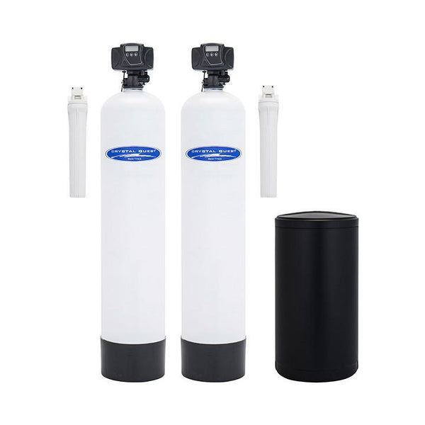 Crystal Quest Water Softener and Fluoride Whole House Water Filter System 48,000 Grain Capacity/1.5 Cu. Ft. - PureWaterGuys.com