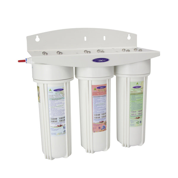 Crystal Quest Voyager Inline Triple Replaceable PLUS Water Filter System - PureWaterGuys.com