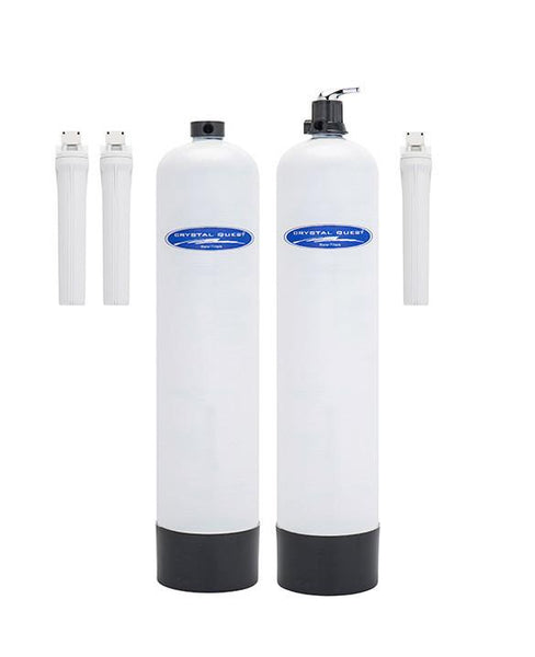 Crystal Quest 4000M2 Anti-Scale and Eagle 2000 Water Filtration System 750,000 Gallon Capacity with Manual Backwashing - PureWaterGuys.com