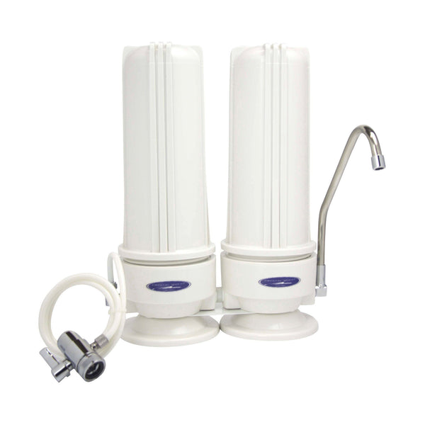 Crystal Quest Countertop Double Replaceable Fluoride Water Filter System - PureWaterGuys.com